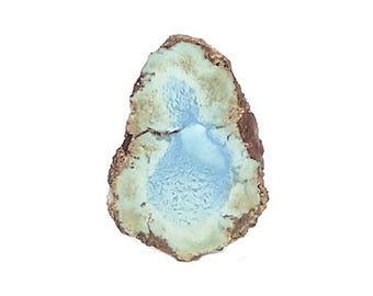 Turquoise Pastel Blue and Green Cut and Polished Natural Nugget, Raw Gem, Kazakhstan geo Specimen Gemstone Focal, Earth Geo Jewel