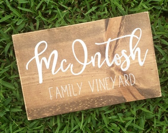 Simple business sign. Wood sign. Family sign. Custom sign.