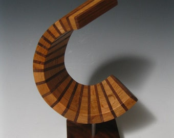 wood sculpture art modern abstract sculpture