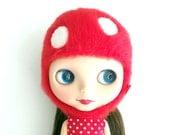 Custom Order Crochet Mushroom Hat for Blythe Doll