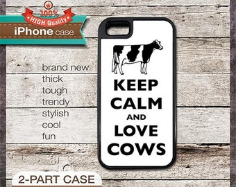 Keep Calm And Love Cows (holstein) - iPhone 6, 6+, 5 5S, 5C, 4 4S, Samsung Galaxy S3, S4