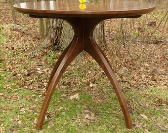 Bar Height Walnut Walking Table ©2008 with Thick Top