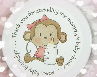 Baby Shower Favor, Baby Shower Favors, Monkey Shower, Baby Girl Favors, Whipped Body Butter, Monkey Favor