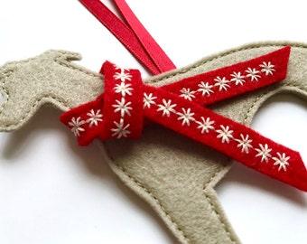 Whippet Dog Christmas Decoration, tree decoration,  decoration,