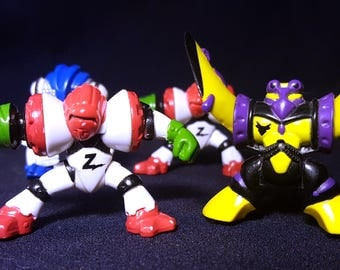 1994 Z-Bots by Galoob, Set of 3 plus 1 - Special Burger King Premiums - Turbine, Bugeye, Skyviper - Micro Machines