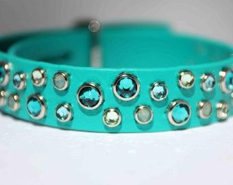 Waterproof Dog Collar / Biothane Dog Collar / Modern Dog Collar / Swarovski Crystal