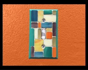 Pastiche - Stained Glass Mosaic Switch Plate