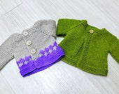 XMAS SALE -  TWO  Waldorf doll sweater for 18 - 19  inch doll