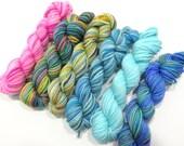 Love Potion - 6 Sock Skeins, 25 yds each, 150 yds total
