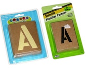 Lot of Two Brand New Alphabet Letter Stencil Sets by Create Like Crazy & HY-KO