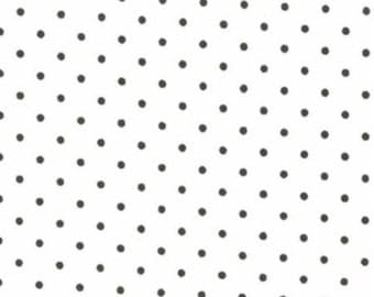 In stock now-Essential Dots in Black-by Moda- 1 yard