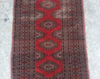 Antique Persian Rug ~ Handwoven ~ Wool 3x5
