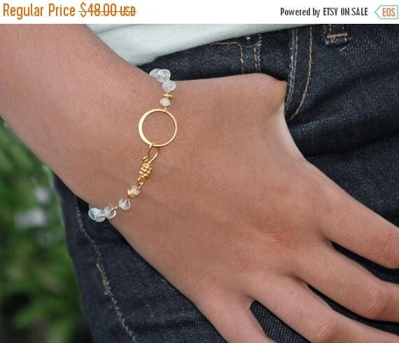 20% off. Moonstone Eternity Bracelet. Blue fire Moonstone Bracelet or Anklet. 22k vermeil or Sterling silver. B-2311
