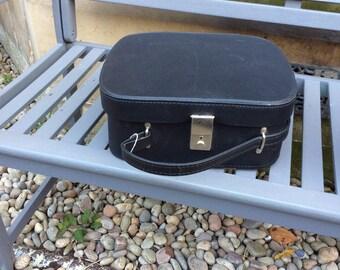 Black  vintage vanity case