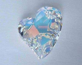 1 SWAROVSKI 6261 Devoted Heart Pendant 17mm CRYSTAL AB