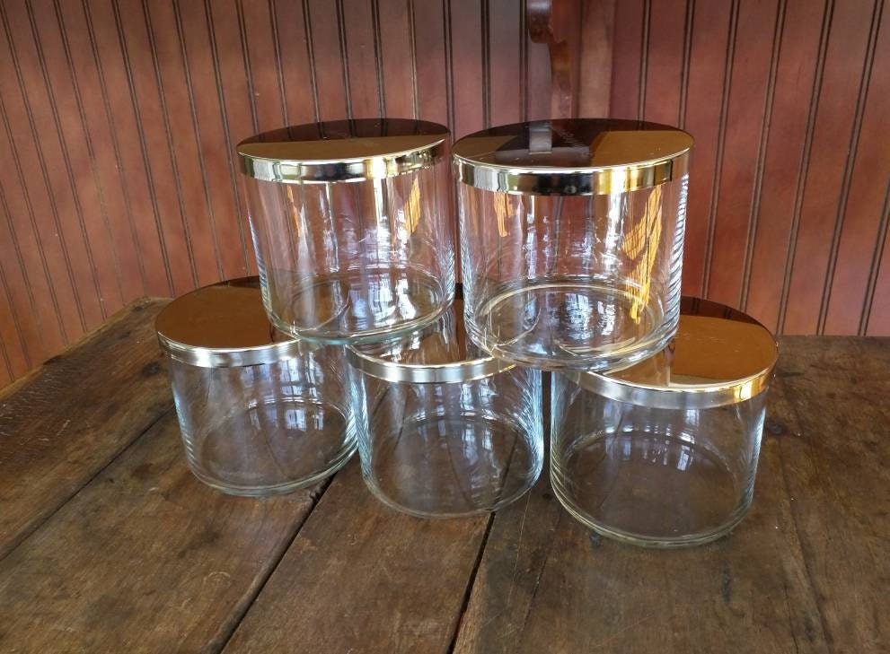 recycled bath and body works 14 5 oz empty candle jars clear. Black Bedroom Furniture Sets. Home Design Ideas