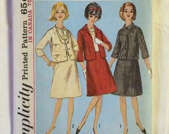 Vintage Suit Pattern / Vintage Simplicity Pattern / Simplicity 5648  / Misses Suit Pattern / Vintage Misses Suit Pattern / UNCUT