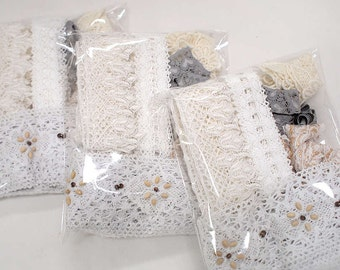 Mix lot of Lace Trim Bundle - Lace Trim Supplies Fabric