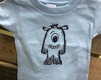 Blue Monster Infant/Baby T-shirt