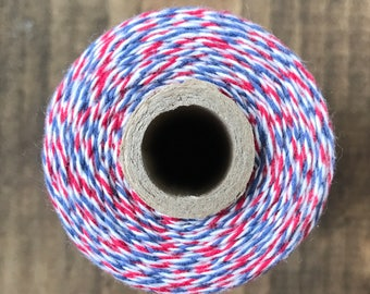Red White Blue Postman Style Baker's Twine, Divine Twine, Gift Wrapping