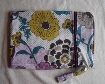 Made to Order: Small Wet/Dry Bag, thistle print.
