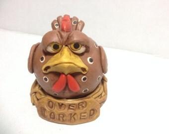 Little Handmade Over Worked Clay Chicken