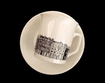 Villeroy and Boch Cup and Saucer Set Tea Coffee Amsterdam Canal Architecture