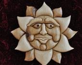 Intarsia Sun Face