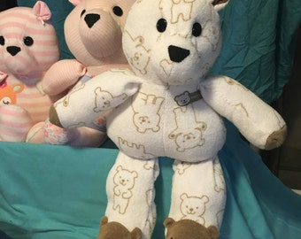 Baby Sleeper / footie pajama Memory Keepsake Bear