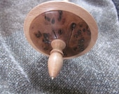 Tibetan style supported Spindle in Burr Elm - 23g