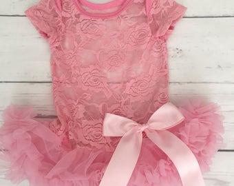 Baby girl clothing-baby tutu dress-1st birthday tutu-pink tutu dress-pink tutu dress-1st birthday dress-newborn tutu-cake smash outfit-tutu