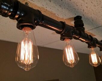 industrial pipe edison bulb chandelier - Edison Chandelier