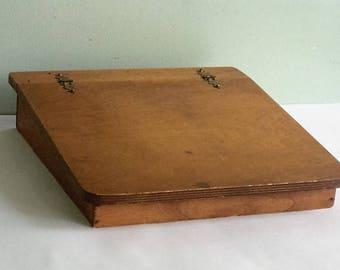 Vintage Wood Lap Desk Portable Writing Desk