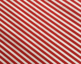 Tiny Red Stripe Fabric
