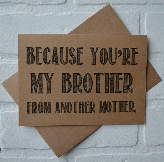BROTHER FROM ANOTHER mother card will you be my groomsman cards bro funny card funny bridal card funny groomsmen proposal cards wedding card