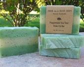 Peppermint Tea Tree Wake-Up Bar, Natural Handmade Soap, Cold Process Soap