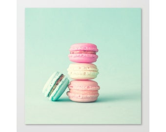 Wall art canvas, macarons, extra large wall art, macaron, canvas art, macaroons, large wall art, macaroon, canvas wall art, mint, pink