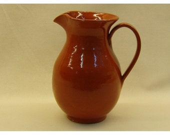 Greek Wine Pitcher, clay pitcher, ceramic pitcher, terra cotta, pottery pitcher, wine jug, canata, carafe, Mediterranean, Crete, Greece