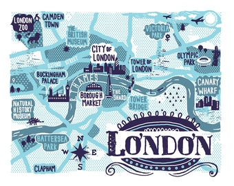 A4 Digital print of London