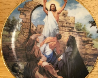Collectible Jesus Plate - The Resurrection