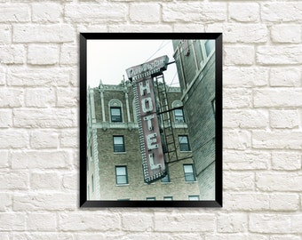 The Darlington Hotel - Uptown Chicago Photography Print vintage sign photo