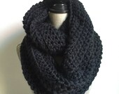 RESERVED Super Bulky Cowl in Black