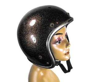 Vintage Motorcycle Helmet - Retro Motorcycle Helmet, Retro Motorcycle Decor, Man Cave Decor, Garage Decor