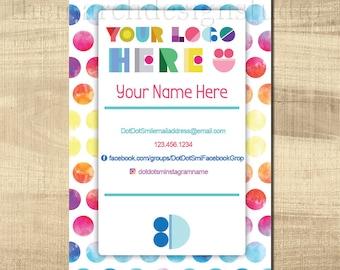 Customized Dot Smile 4x6 Labels, Digital File, Personalized, Dot Dot Marketing, DDS Marketing, Dot Dot Labels, Dot Smile Marketing
