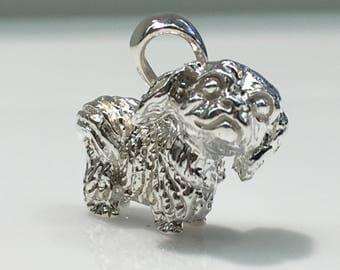 Shiz Tzu, Lhasa Apso in 3D Solid Silver Pendant