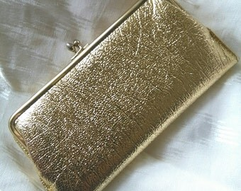 Vintage sparkling gold sixties wallet