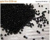 SALE - RR-401, Miyuki Rocaille Beads, Size 15/0, Opaque Black - 20 grams or, choose a Larger Pkg from the 'Select an Option' menu