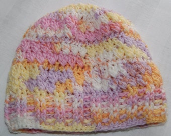 Baby Beanie - 12 month to 24 month size - Toddler Cap - Handmade Hat - Easy Care Child Hat - Pastel Colors