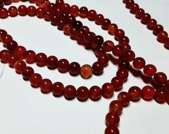 Fire Agate Ball Beads 8mm