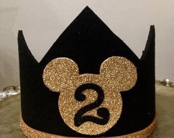 Mickey mouse birthday hat, boys birthday hat, photo prop, first birthday hat,
